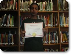 Omar with Certificate